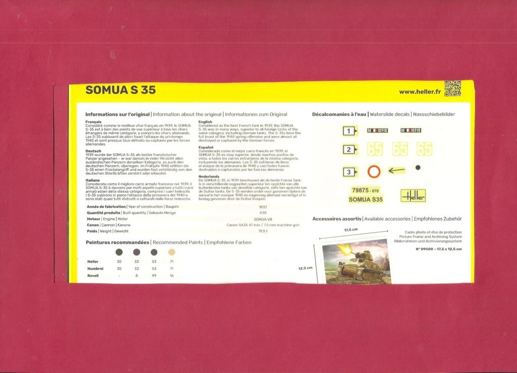 Char d assaut SOMUA S 35 1/72ème Réf 79875 Hell2158