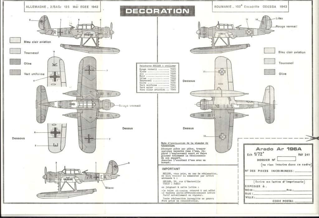 """ARADO Ar 196 A2 """"Aéronavale 1939"""" Réf 241 Hell2850"""