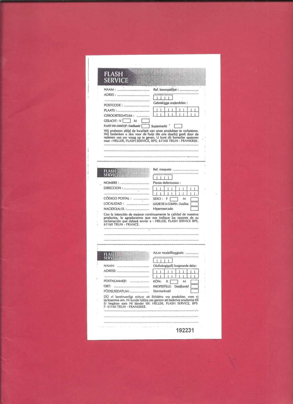 RENAULT VAB 4X4 1/72ème Ref 79898 Notice Helle387