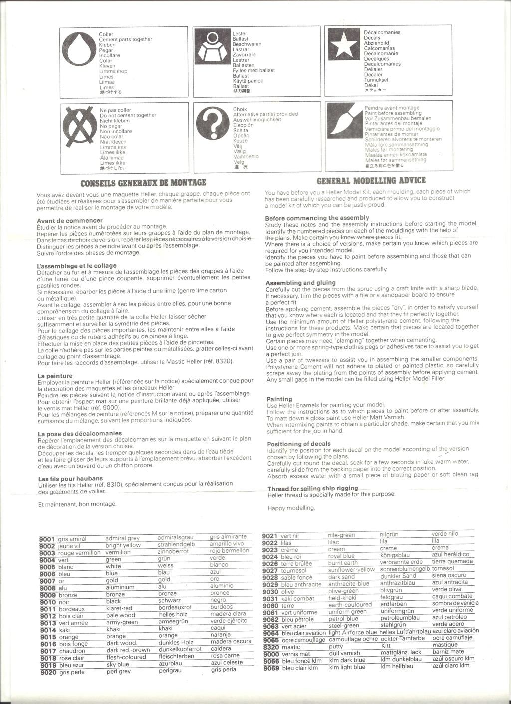 NORTH AMERICAN T 28 TROJAN/FENNEC 1/72ème Réf 279 Notice Helle495