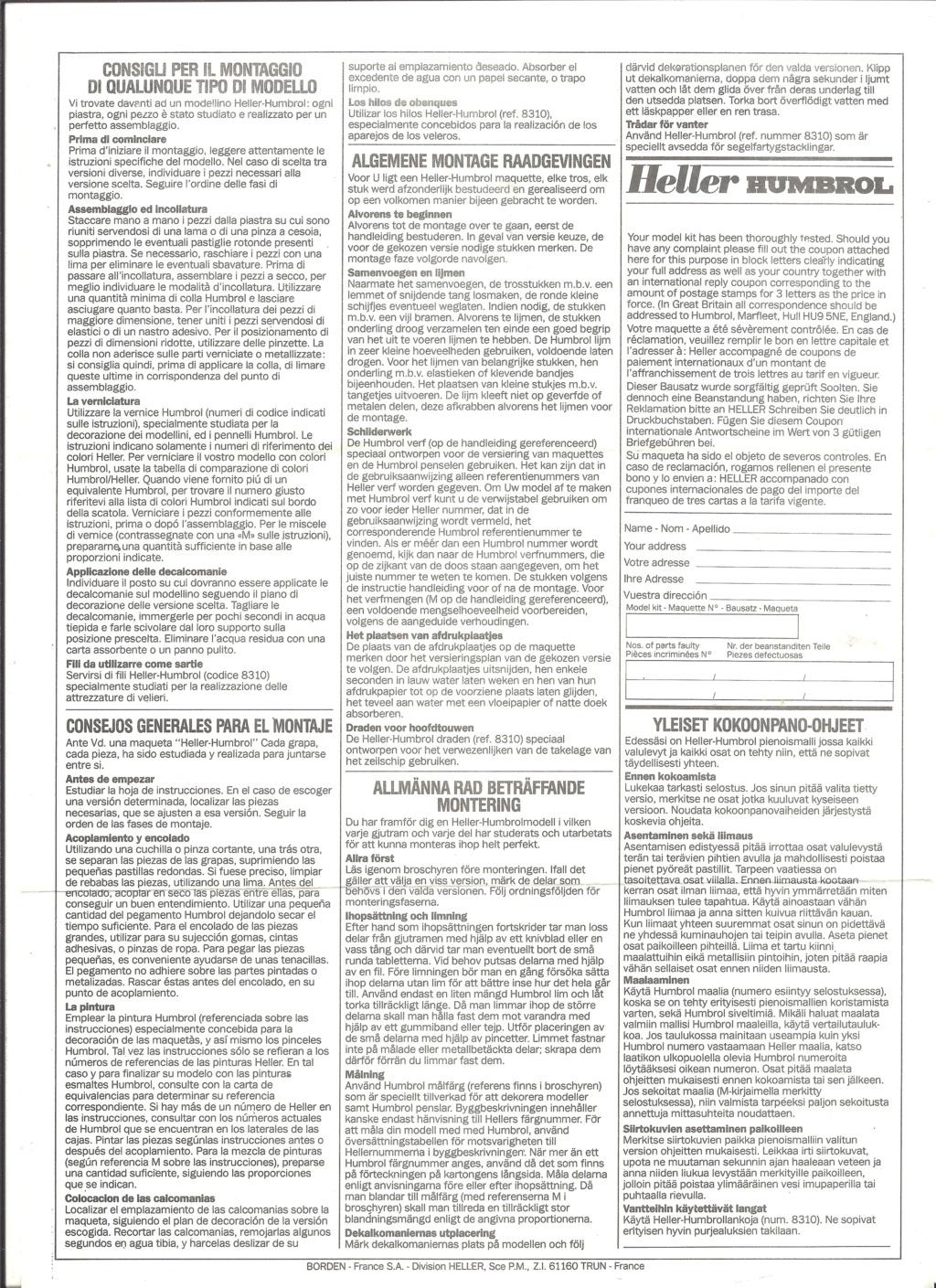 DASSAULT MD 450 OURAGAN 1/72ème ref 80201 Notice Helle504