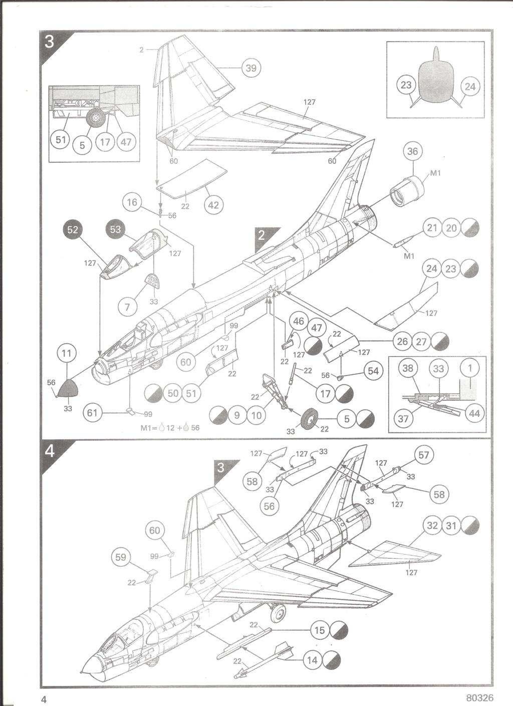 LING TEMCO VOUGHT F-8P  CRUSADER 1/72ème Réf 80326 Notice Helle536