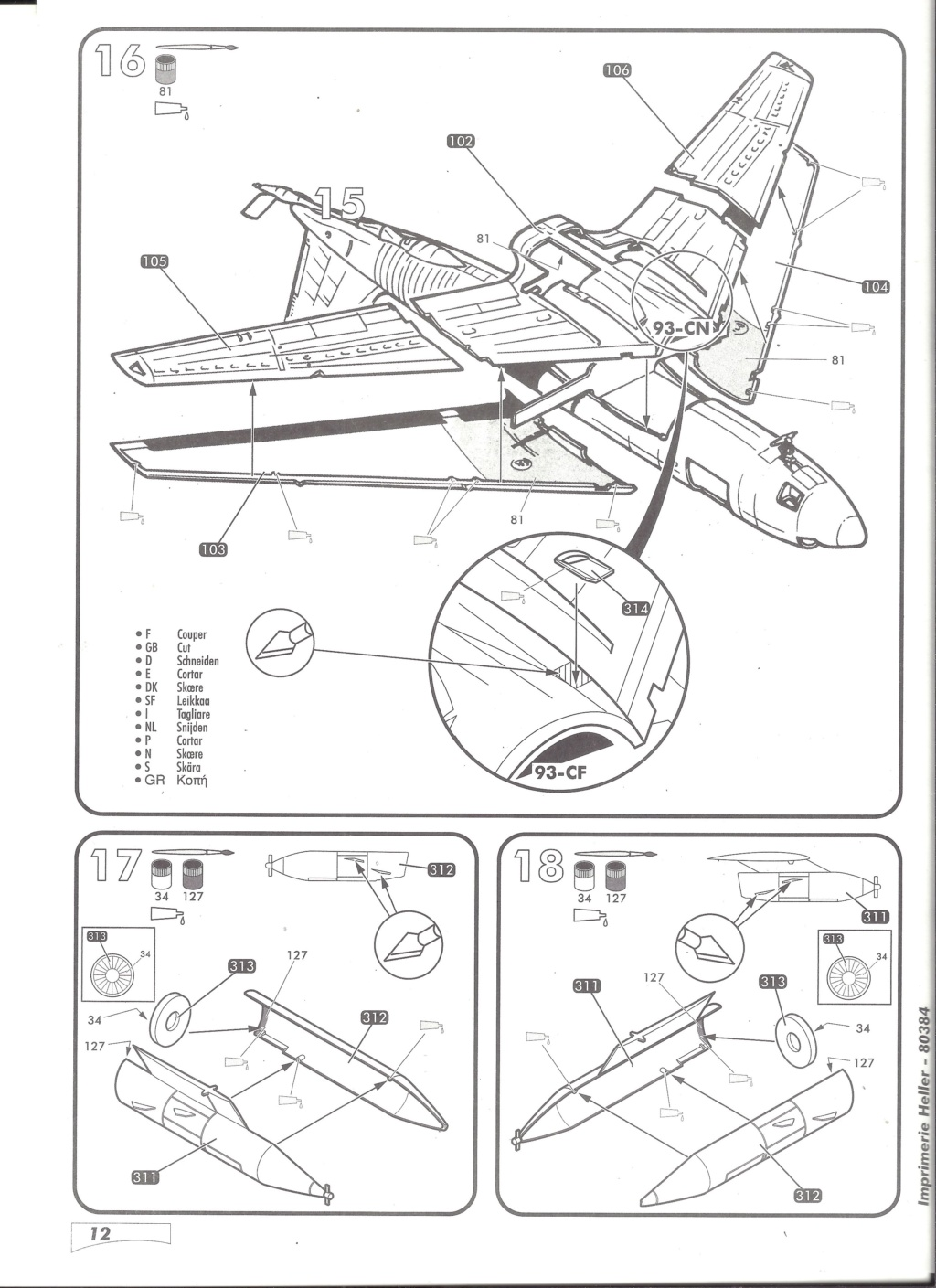 BOEING C 135 FR 1/72ème Ref 80384 Notice Helle592