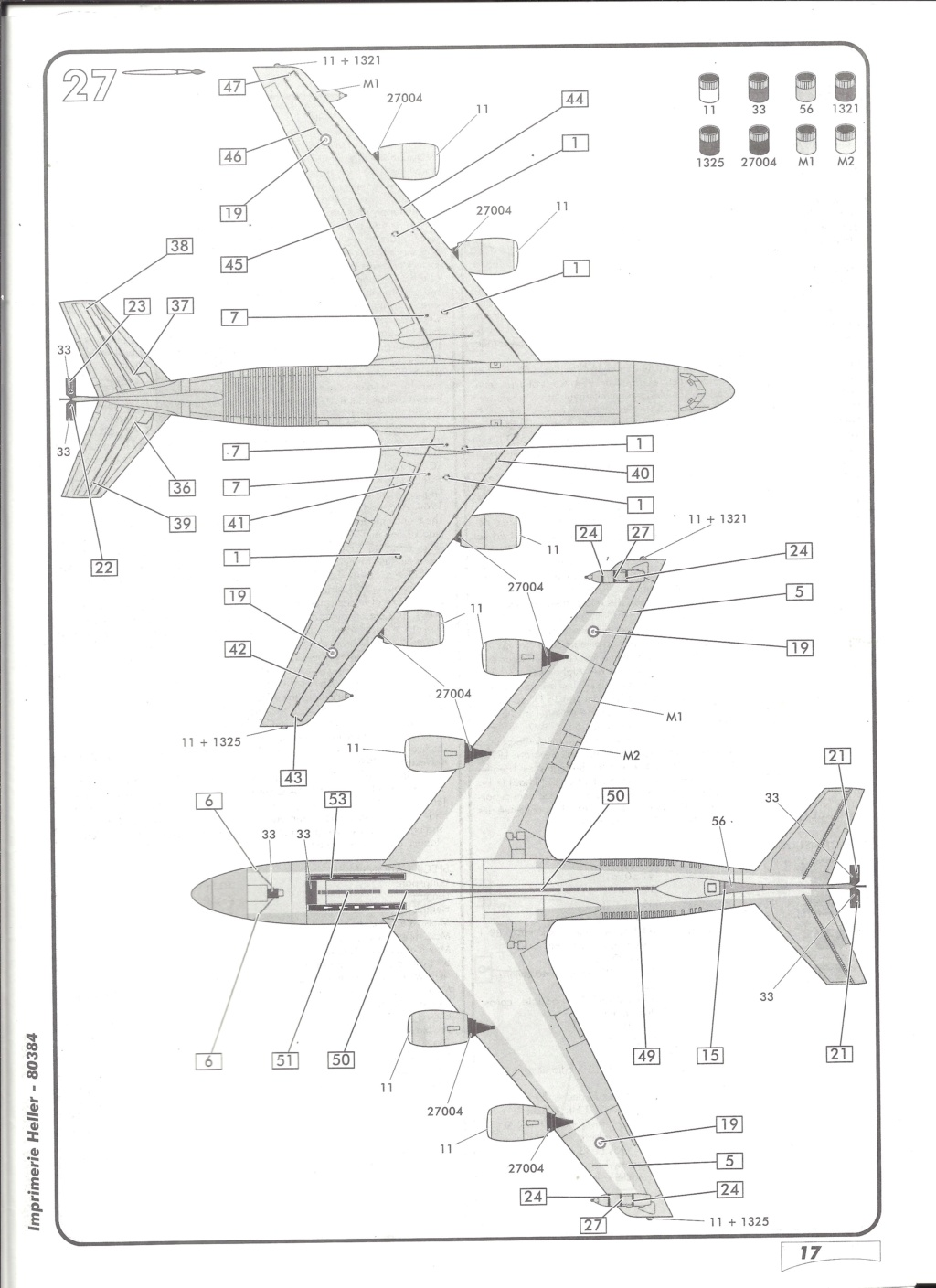 BOEING C 135 FR 1/72ème Ref 80384 Notice Helle599