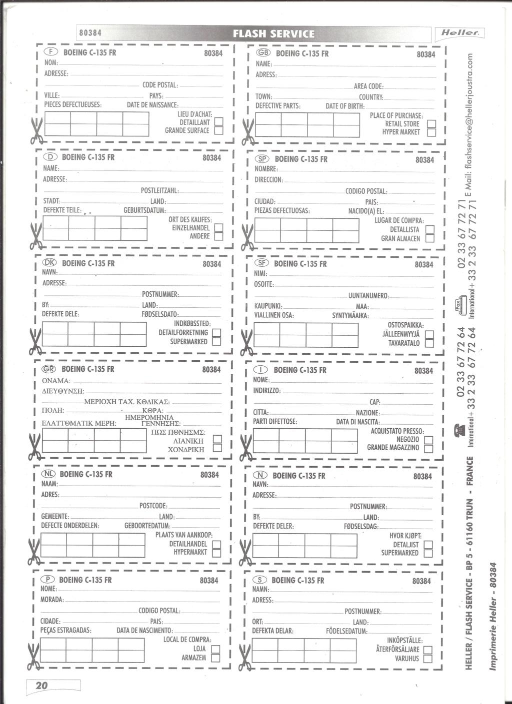 BOEING C 135 FR 1/72ème Ref 80384 Notice Helle600