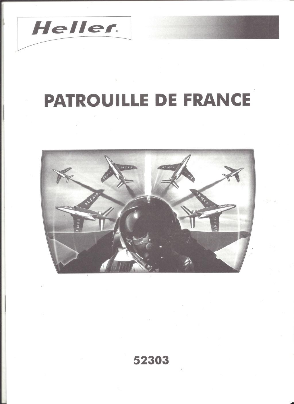 Patrouille de FRANCE 1/72ème Ref 52303 Notice Helle602
