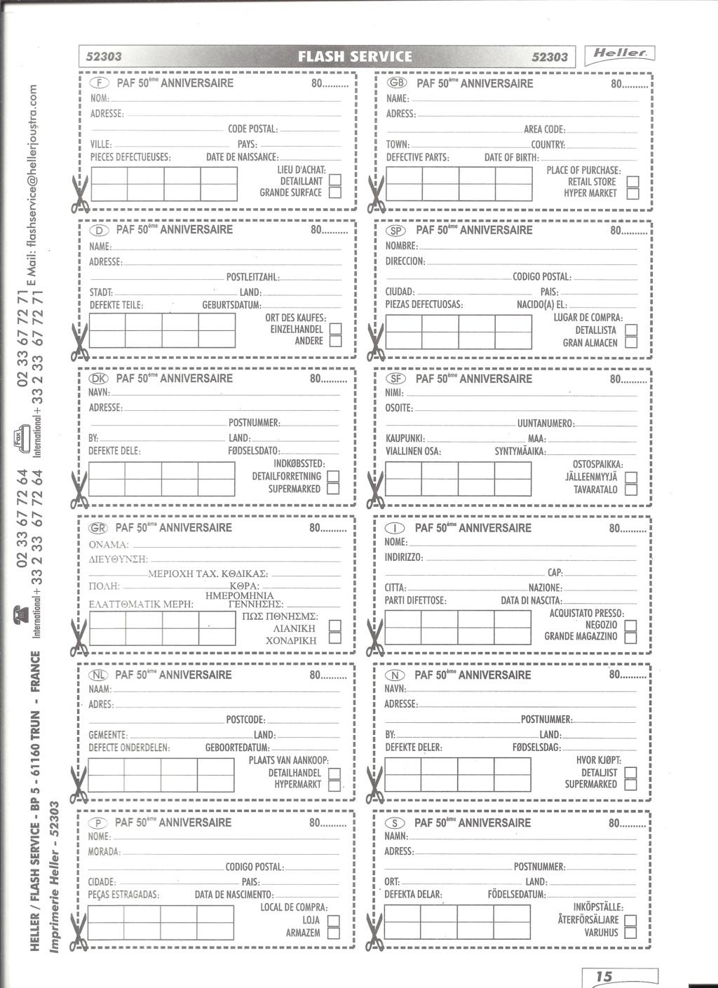 Patrouille de FRANCE 1/72ème Ref 52303 Notice Helle615