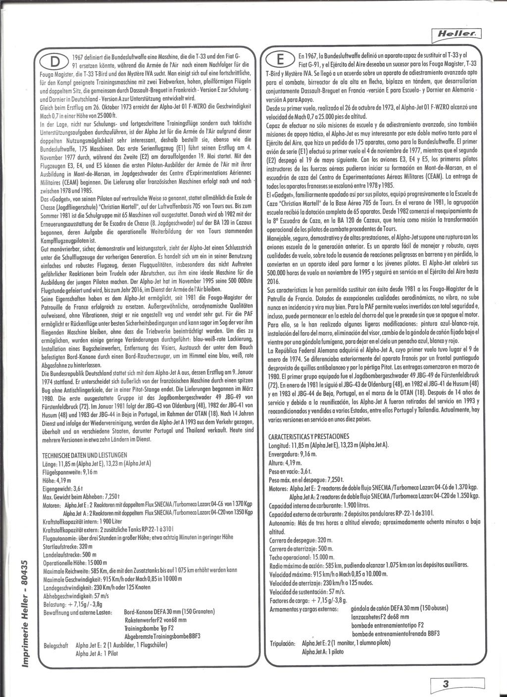 DASSAULT-BREGUET / DORNIER ALPHA JET 1/48ème Réf 80435 Notice Helle658