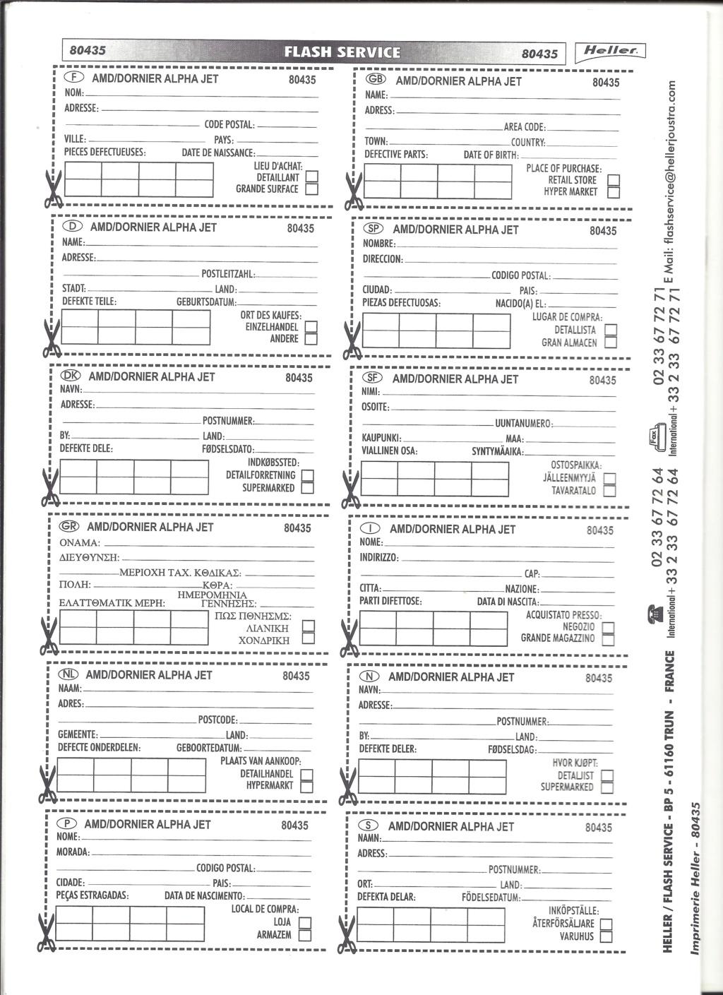 DASSAULT-BREGUET / DORNIER ALPHA JET 1/48ème Réf 80435 Notice Helle673