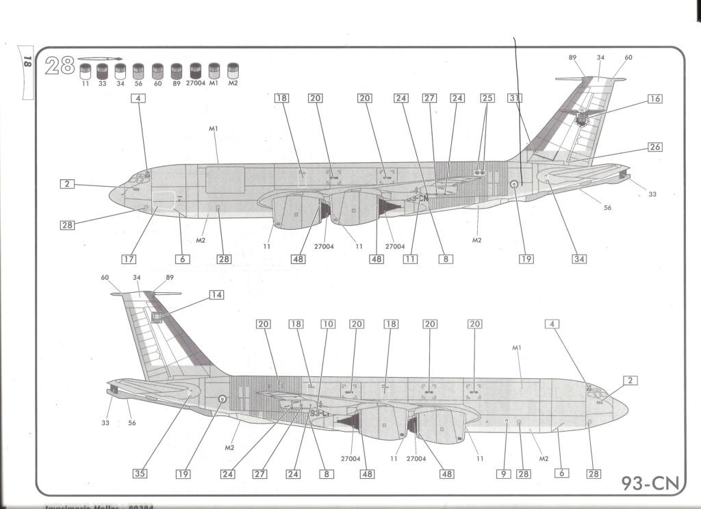 BOEING C 135 FR 1/72ème Ref 80384 Notice Helle677