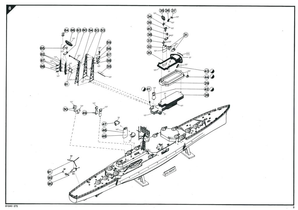 Croiseur Le COLBERT 1/400ème Réf 81040 Notice Helle724