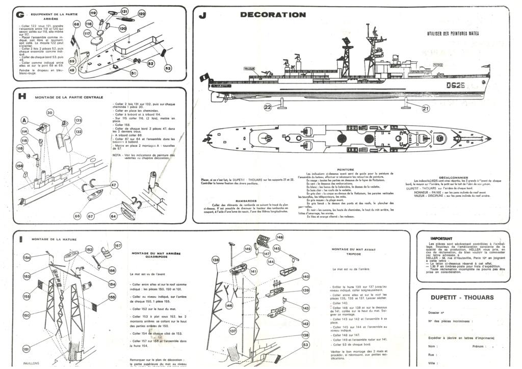 Escorteur d escadre type T 47 A DUPETIT THOUARS 1/400ème Réf 543 Notice Helle744