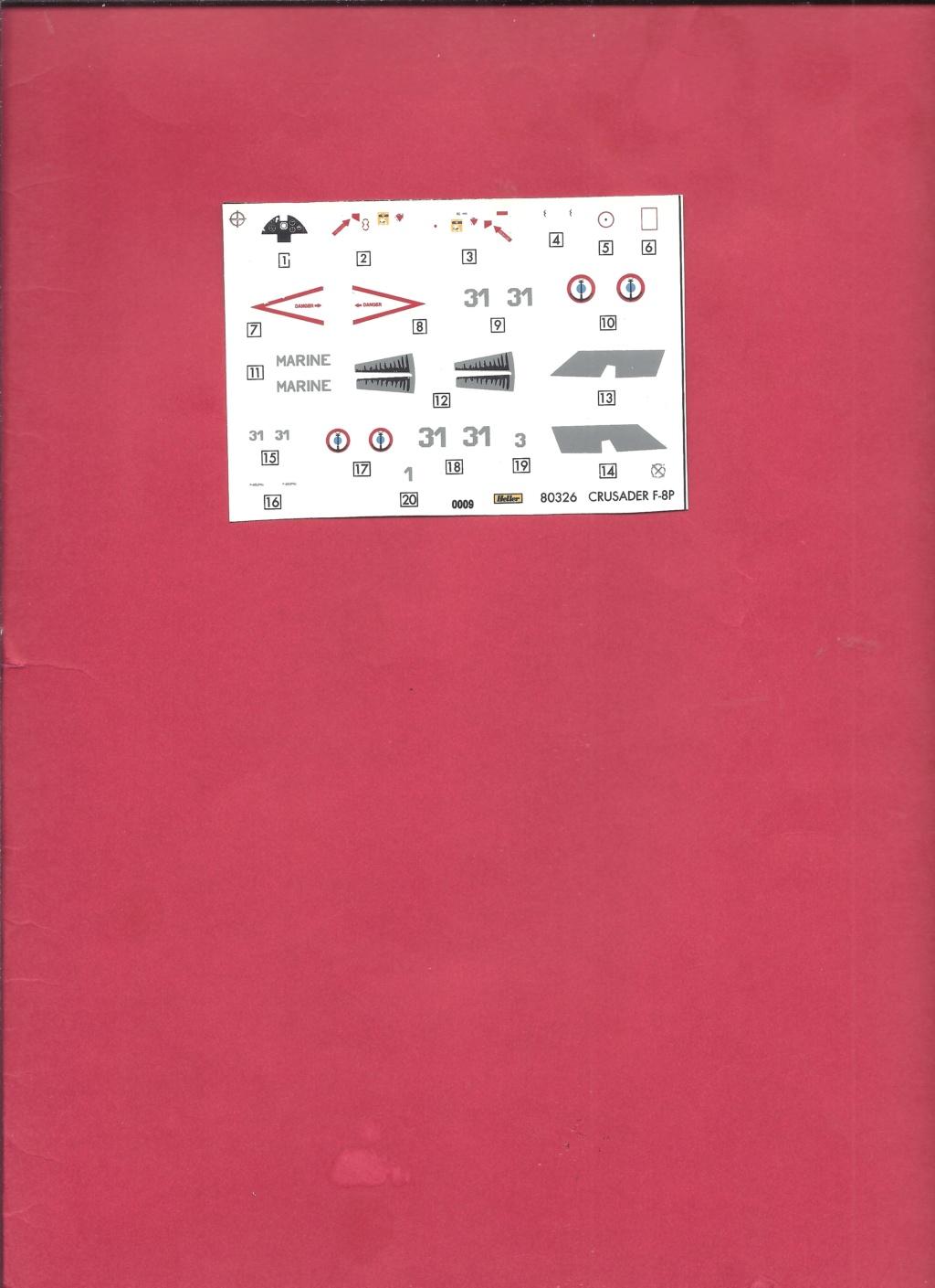 CRUSADER - LING TEMCO VOUGHT F-8P  CRUSADER 1/72ème Réf 80326 Helle863