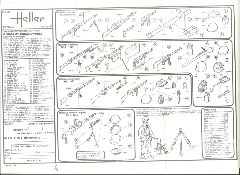 Environnement de combat Armes et équipement 1/35ème Réf 132 Notice Helle892
