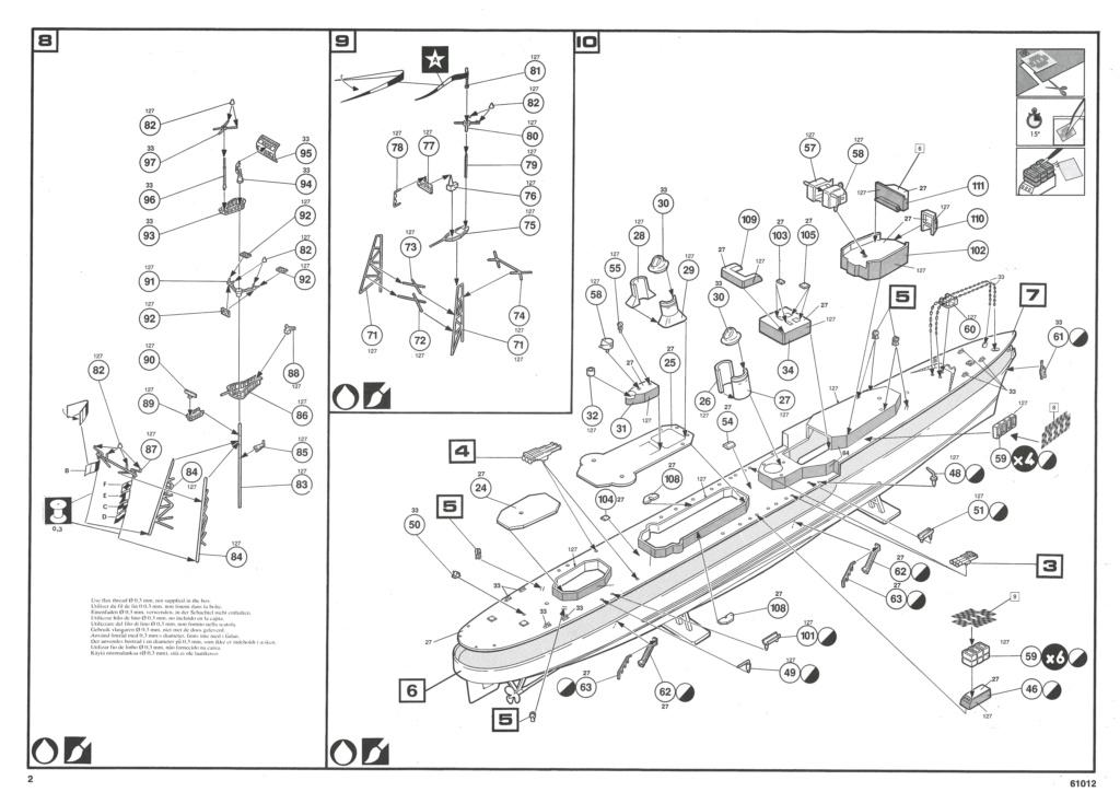 Escorteur d Escadre T 47 B MAILLE BREZE 1/400ème Réf 61012 Notice Helle956