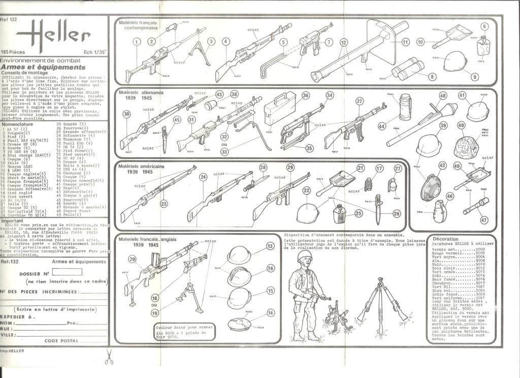 ARMES et EQUIPEMENT 1/35ème  Réf 132 Notice Heller95