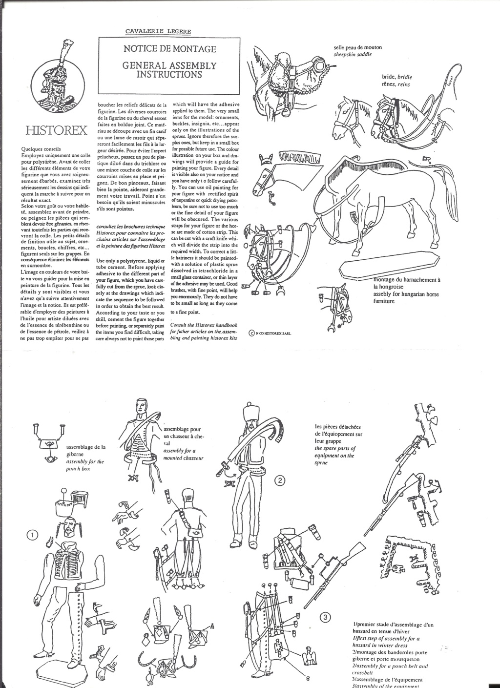 [HISTOREX] Maréchal  BESSIERES Colonel Général de la cavalerie de la Garde Impériale 1/30ème Réf 30004 Notice Histo121