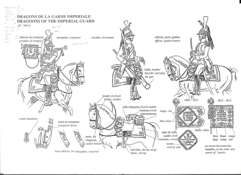 [HISTOREX] Régiment Dragon à cheval de la Garde Impériale 1806 - 1815 1/30ème Réf 30012 Notice Histo126