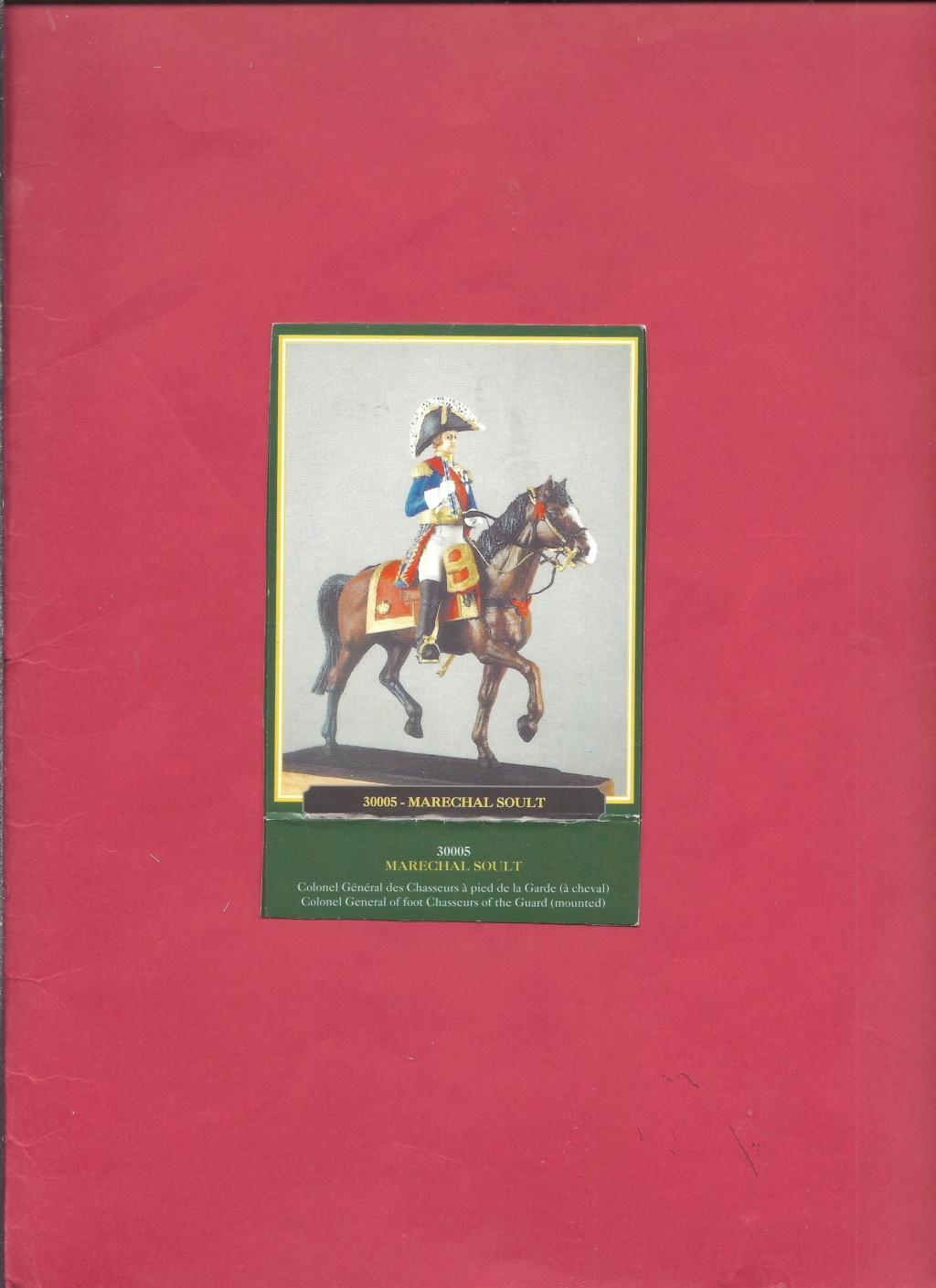 [HISTOREX] Maréchal SOULT Colonel Général des Chasseurs à pieds de la Garde Impériale 1/30ème Réf 30005 Notice Histo129