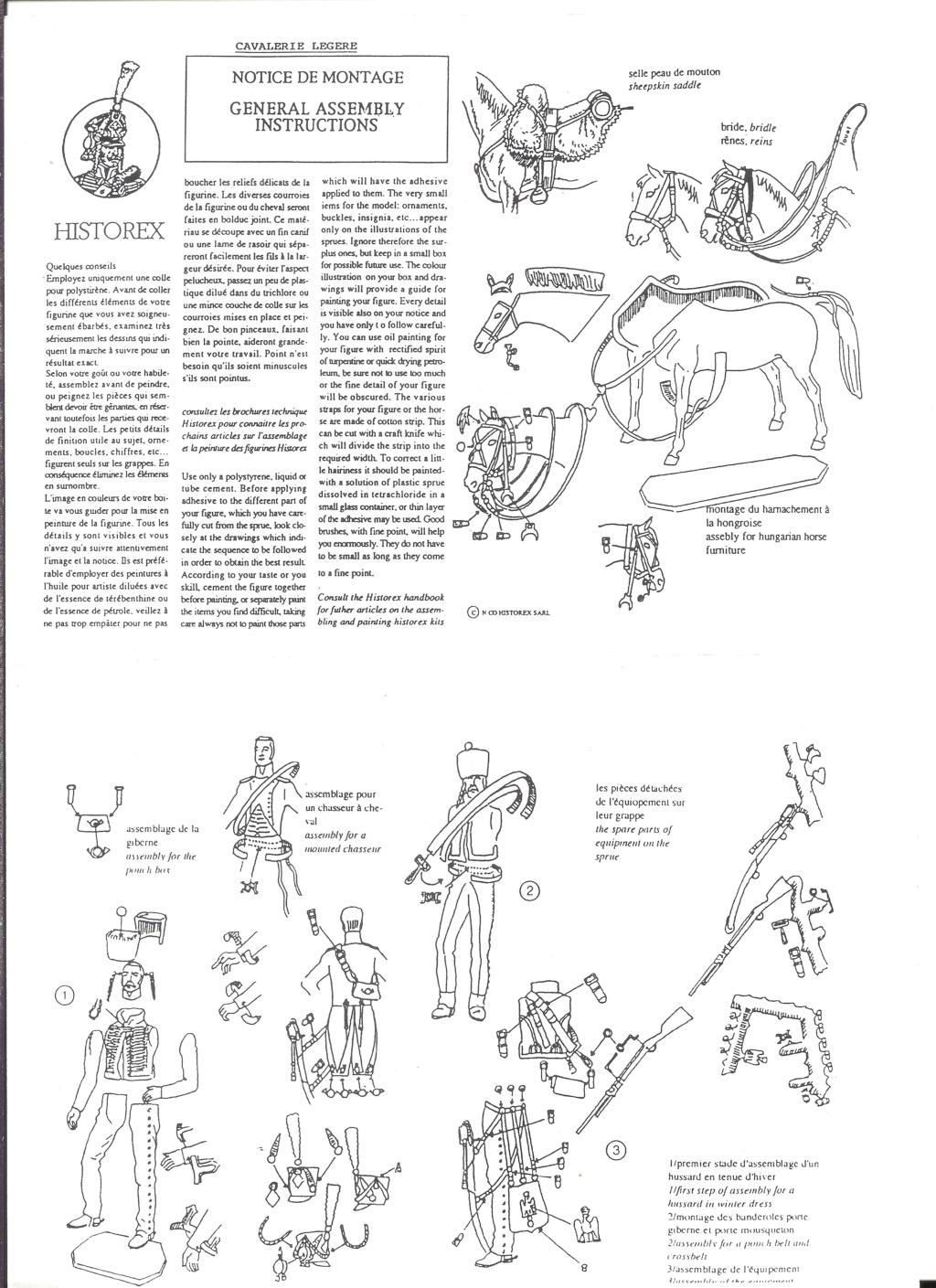 [HISTOREX] Maréchal SOULT Colonel Général des Chasseurs à pieds de la Garde Impériale 1/30ème Réf 30005 Notice Histo131