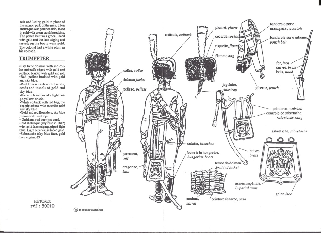 [HISTOREX] Chasseur à cheval de la Garde Impérial 1804 - 1815 1/30ème Réf 30010 Notice Histo152
