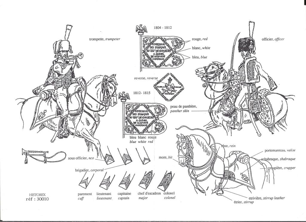 [HISTOREX] Chasseur à cheval de la Garde Impérial 1804 - 1815 1/30ème Réf 30010 Notice Histo154