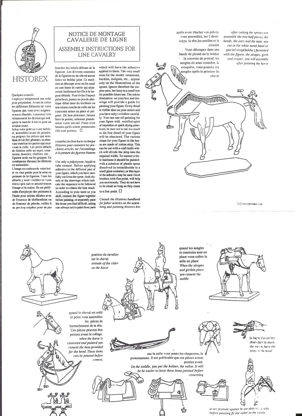 [HISTOREX] Chasseur à cheval de la Garde Impérial 1804 - 1815 1/30ème Réf 30010 Notice Histo155