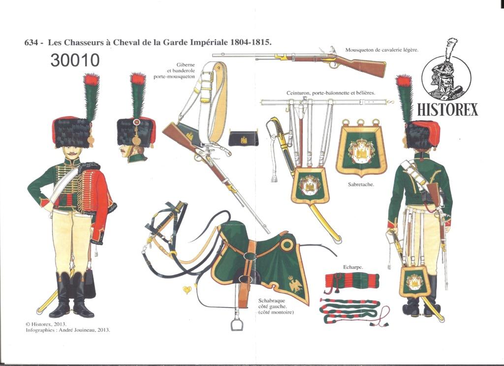 [HISTOREX] Chasseur à cheval de la Garde Impérial 1804 - 1815 1/30ème Réf 30010 Notice Histo156
