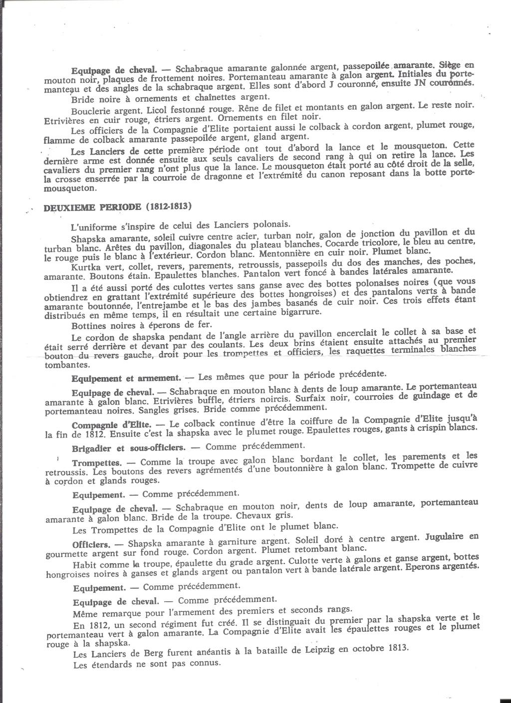 [HISTOREX] Régiment Chevaux-léger Lancier du Grand-Duché de BERG de la Garde Impériale 1809 - 1813 1/30ème Réf 742 Notice Histo176