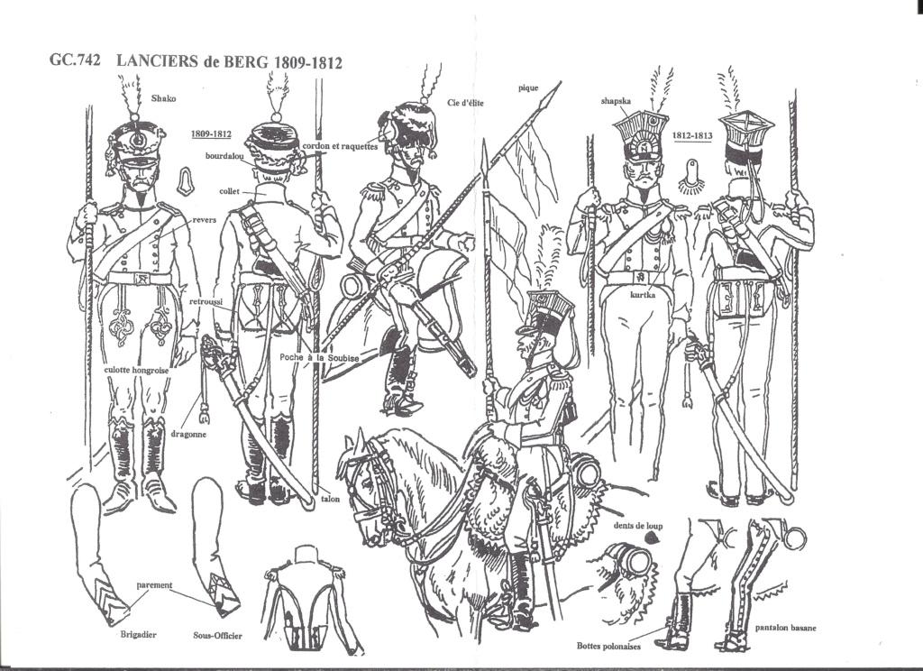 [HISTOREX] Régiment Chevaux-léger Lancier du Grand-Duché de BERG de la Garde Impériale 1809 - 1813 1/30ème Réf 742 Notice Histo177