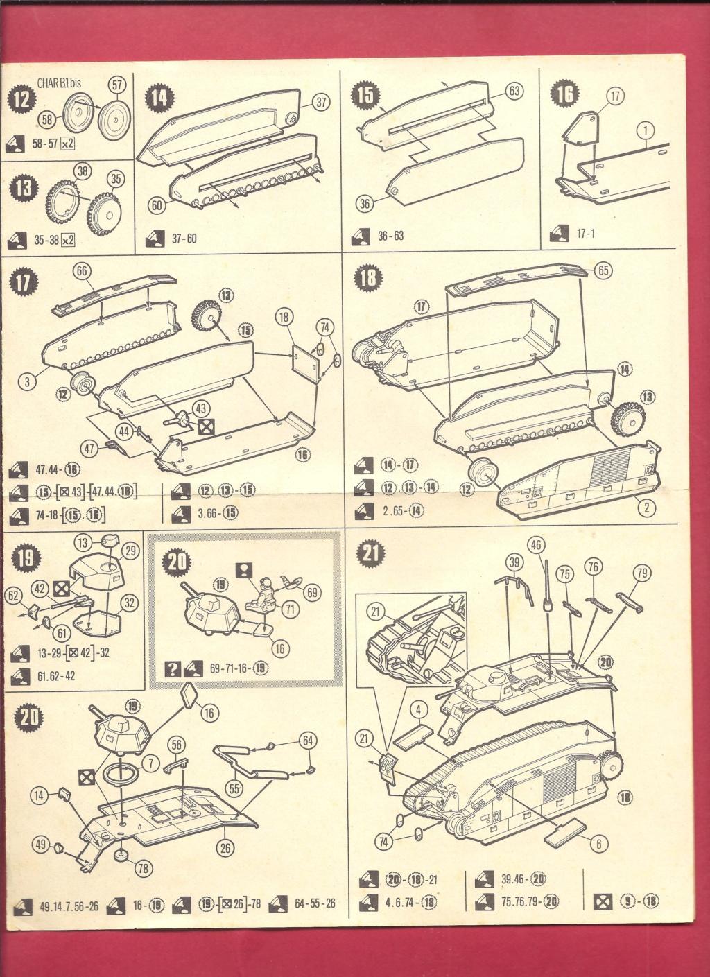 [MATCHBOX] Char B.1 bis et RENAULT FT 17 1/76ème Réf 40176 Notice Matchb24