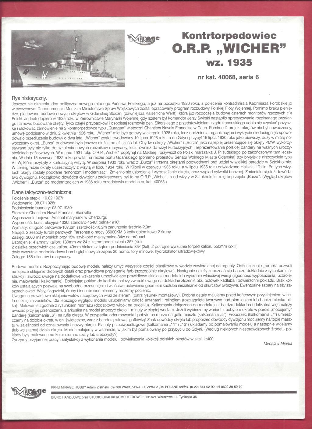 [MIRAGE] Torpilleur d escadre de 1 500t classe ADROIT ORP WICHER 1/400ème Réf 40068    Mirage10