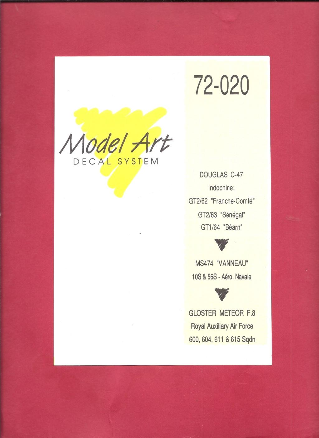 [MODEL ART] Planche de décals  DOUGLAS C-47, MORANE SAULNIER MS 474 VANNEAU & GLOSTER METEOR F 8 1/72ème Réf 72-20 Model_25