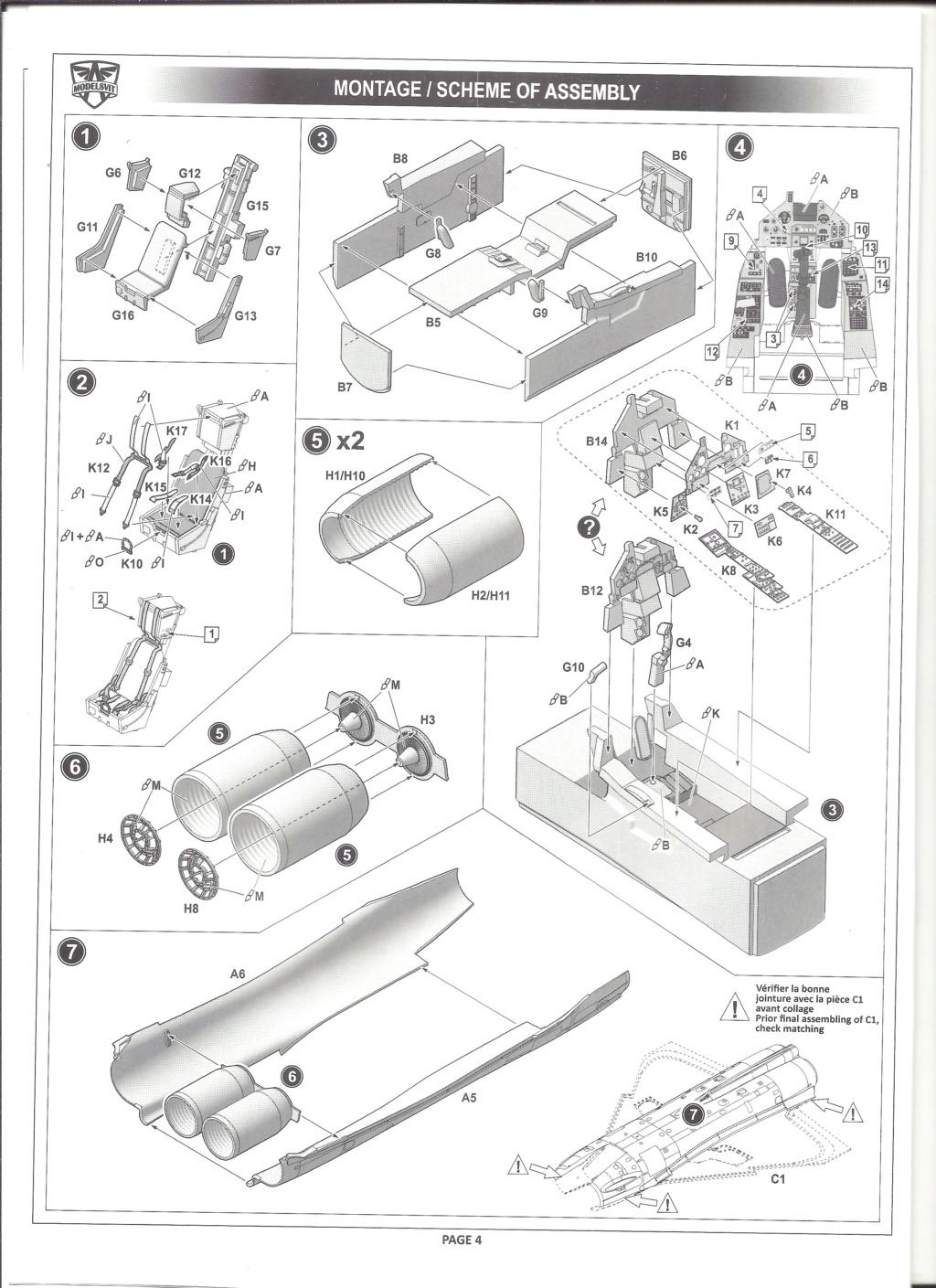 [MODELSVIT] DASSAULT MIRAGE 4000 1/72ème Réf 72052 Notice Models13