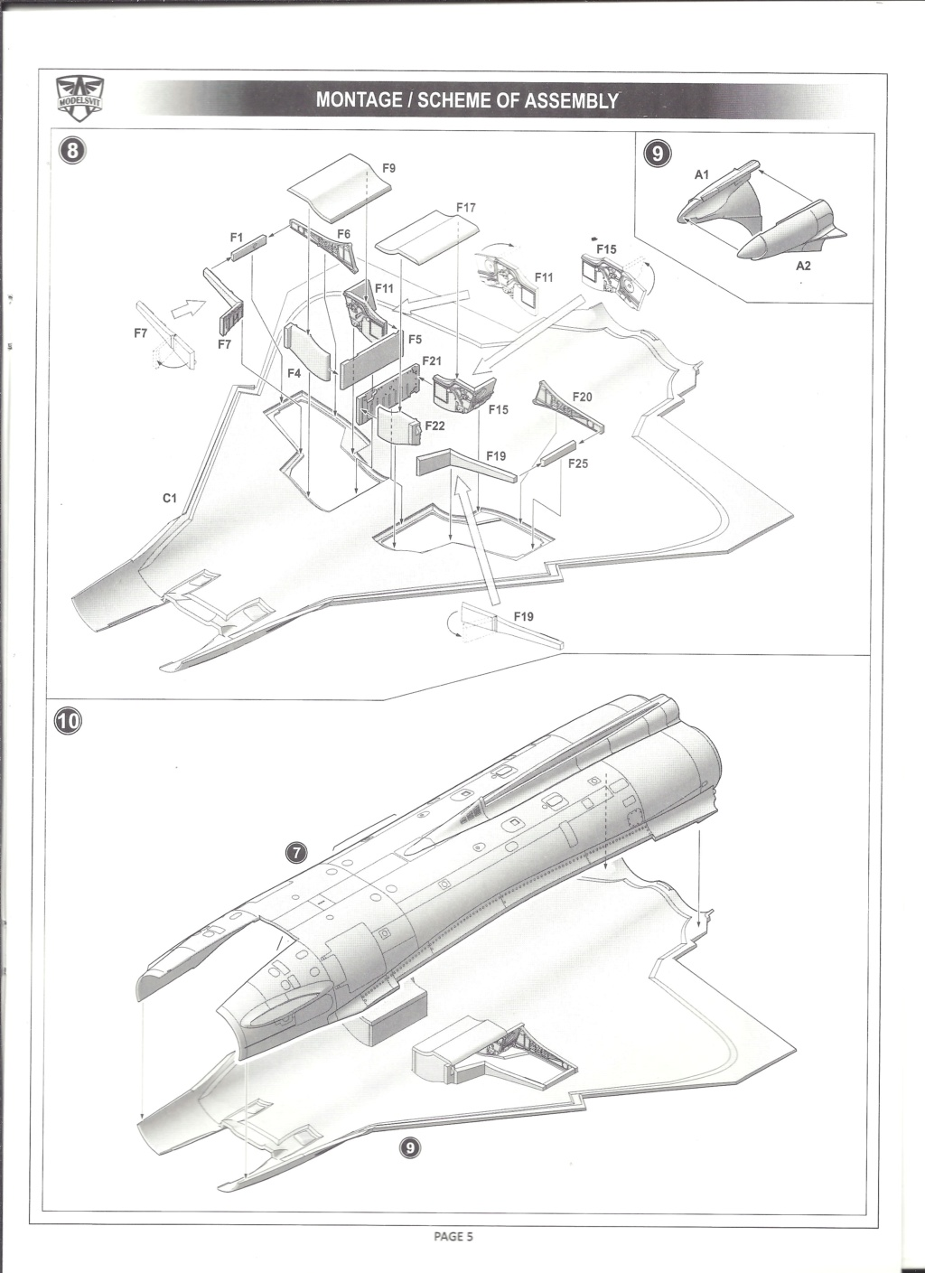 [MODELSVIT] DASSAULT MIRAGE 4000 1/72ème Réf 72052 Notice Models16