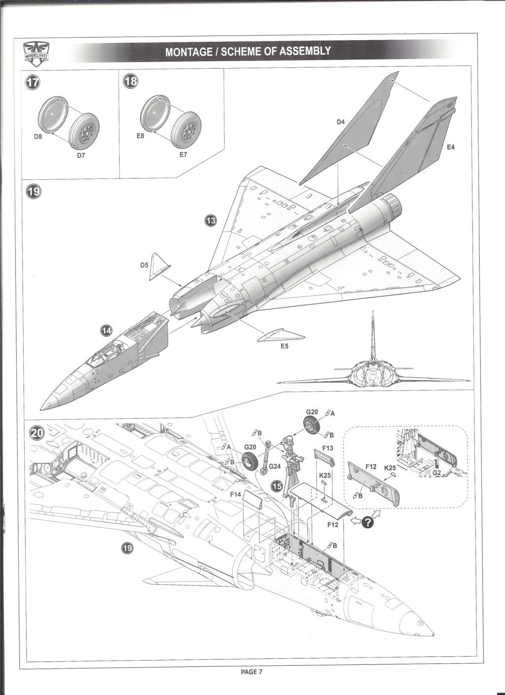 [MODELSVIT] DASSAULT MIRAGE 4000 1/72ème Réf 72052 Notice Models17