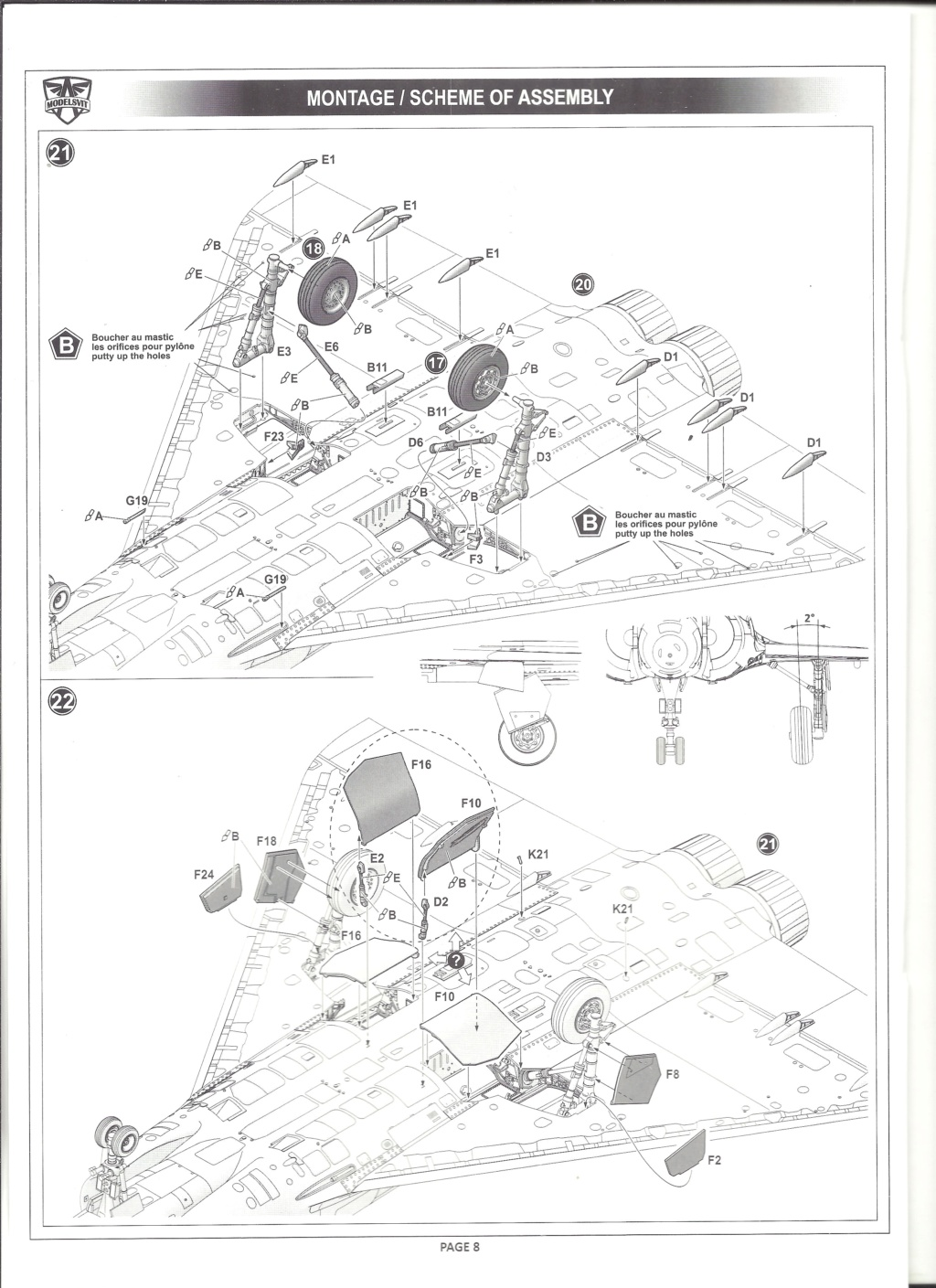 [MODELSVIT] DASSAULT MIRAGE 4000 1/72ème Réf 72052 Notice Models19