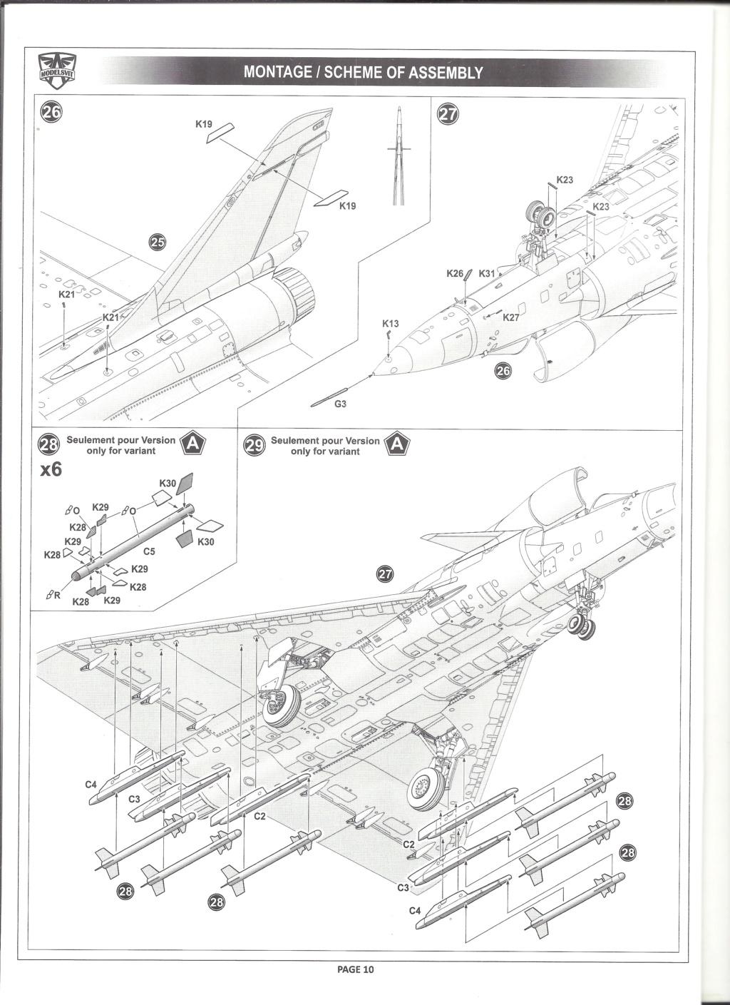 [MODELSVIT] DASSAULT MIRAGE 4000 1/72ème Réf 72052 Notice Models21