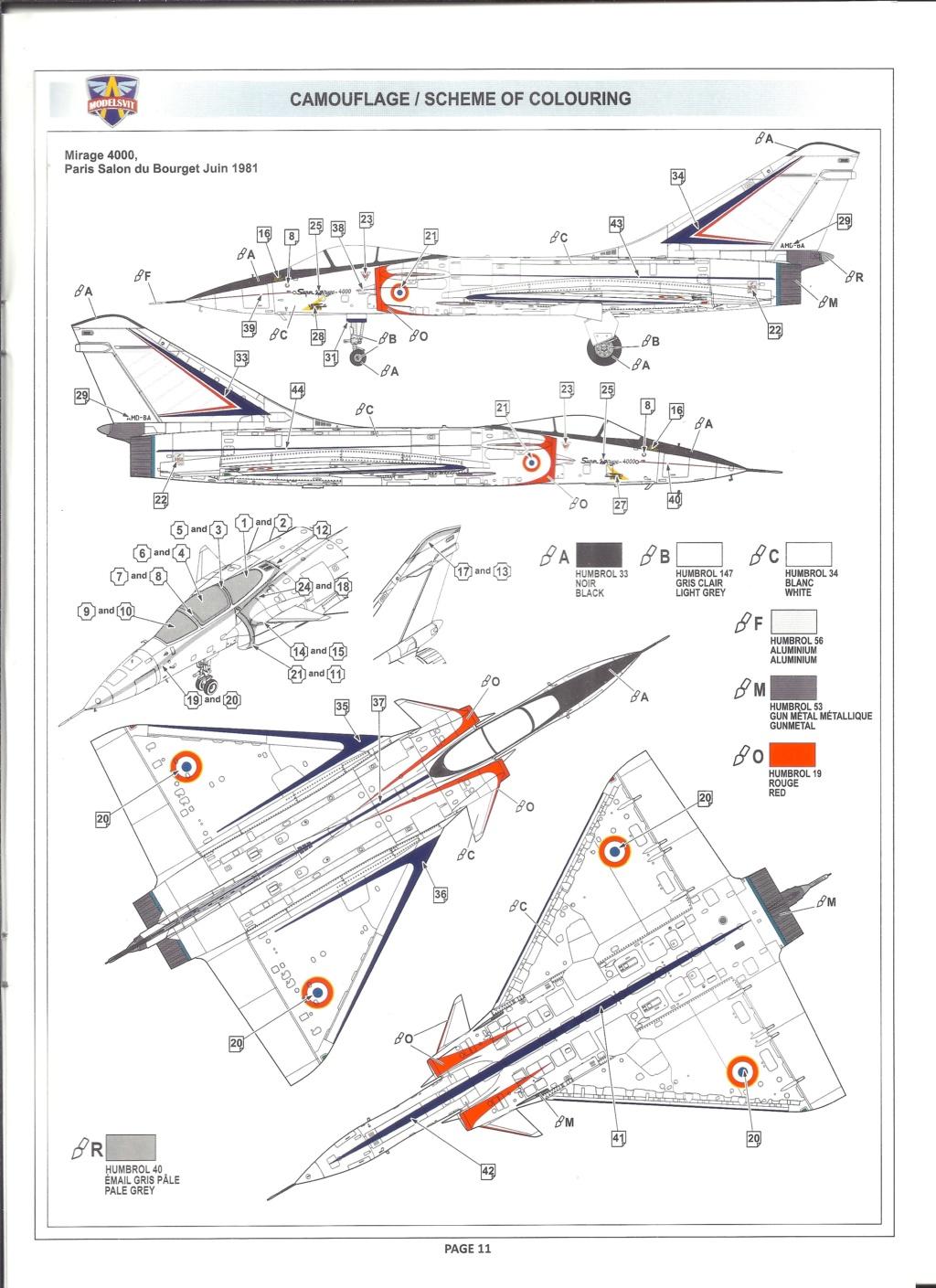 [MODELSVIT] DASSAULT MIRAGE 4000 1/72ème Réf 72052 Notice Models22