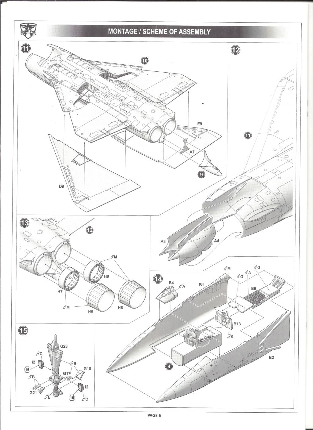 [MODELSVIT] DASSAULT MIRAGE 4000 1/72ème Réf 72052 Notice Models24