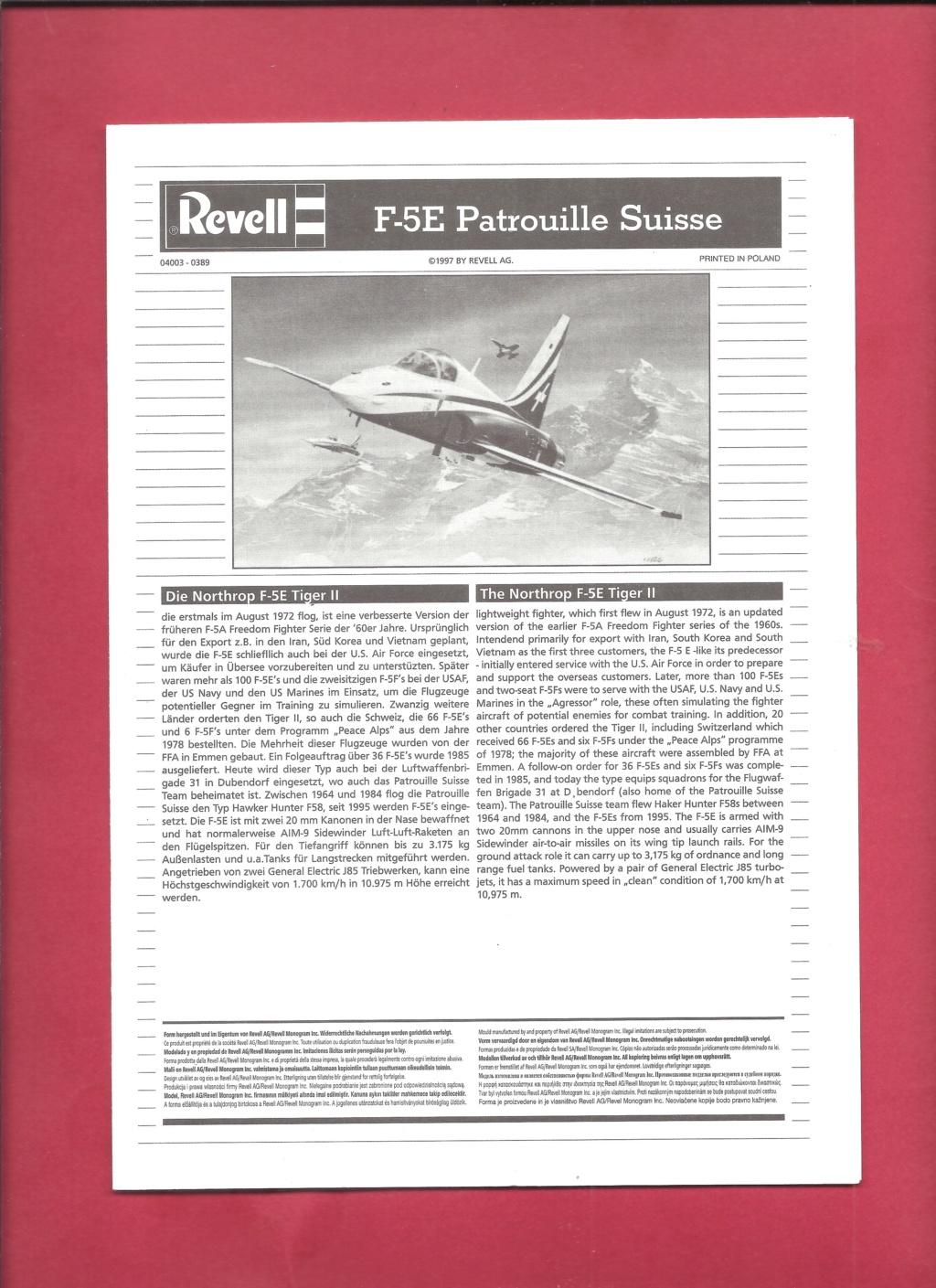 NORTHROP - [REVELL] NORTHROP F 5 E Patrouille SUISSE 1/144ème Réf 4003 Revel432
