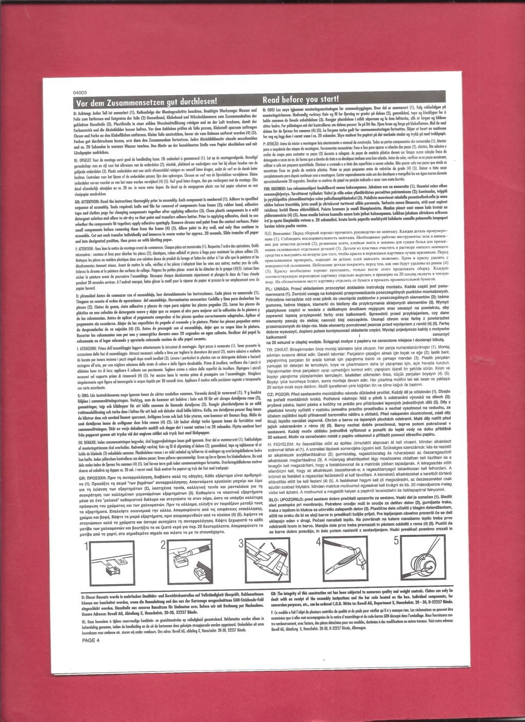 NORTHROP - [REVELL] NORTHROP F 5 E Patrouille SUISSE 1/144ème Réf 4003 Revel437