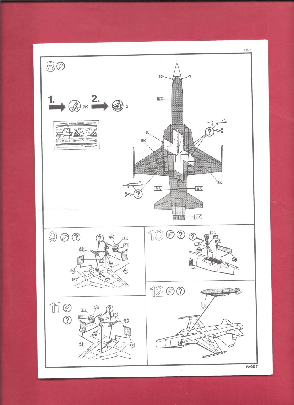 NORTHROP - [REVELL] NORTHROP F 5 E Patrouille SUISSE 1/144ème Réf 4003 Revel438