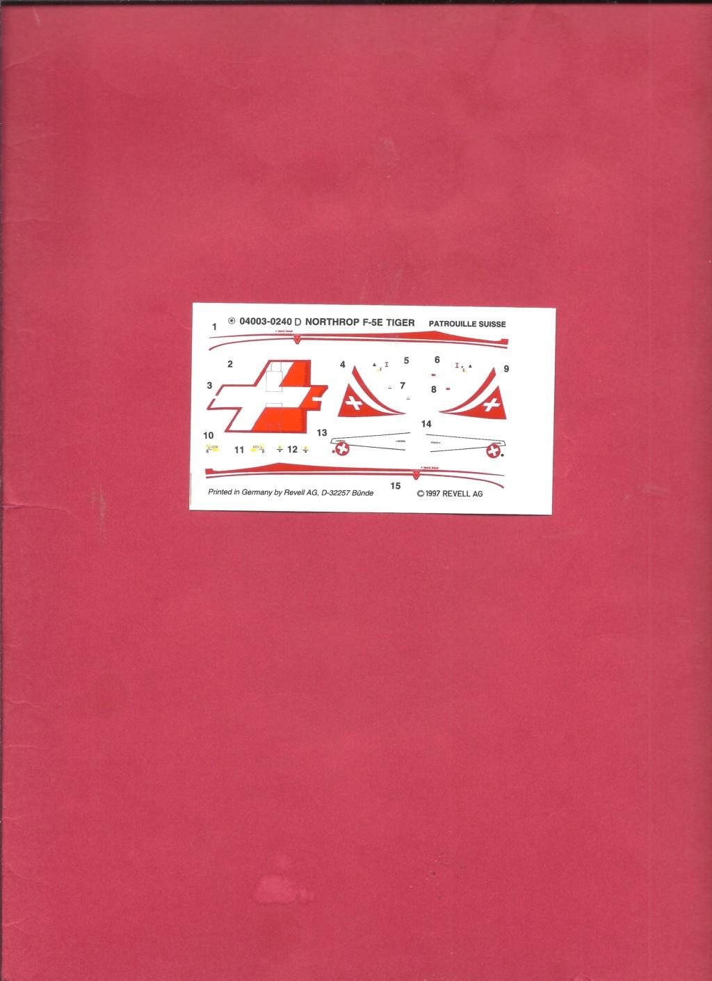 NORTHROP - [REVELL] NORTHROP F 5 E Patrouille SUISSE 1/144ème Réf 4003 Revel913