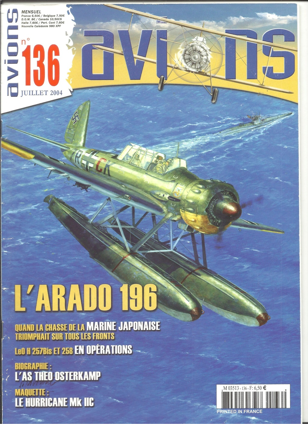 "ARADO Ar 196 A2 ""Aéronavale 1939"" Réf 241 Revue518"