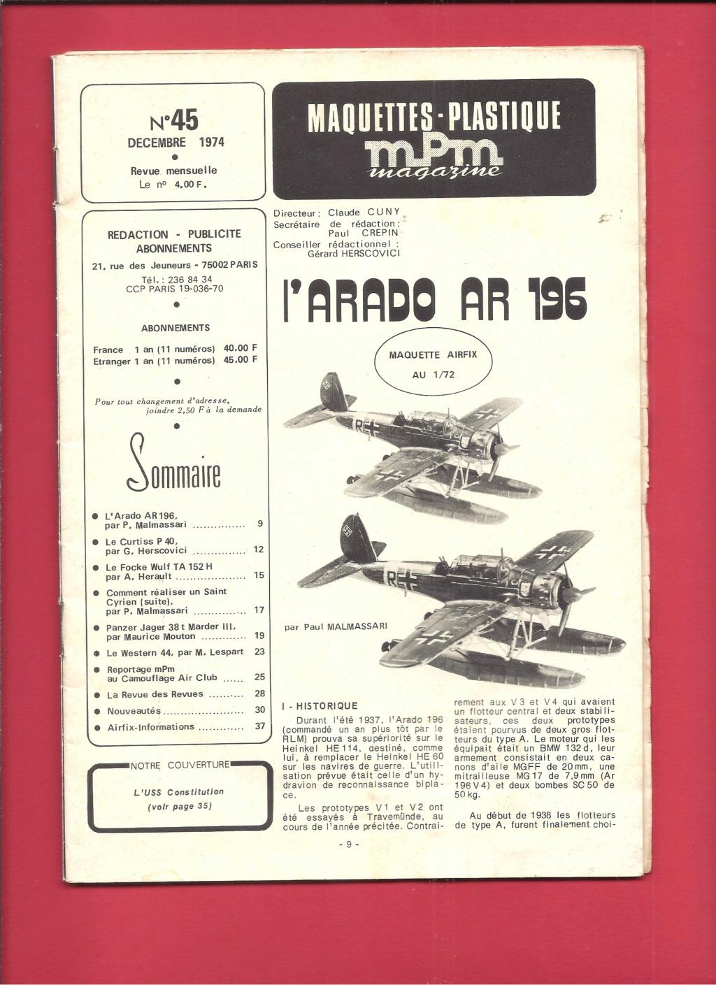 "ARADO Ar 196 A2 ""Aéronavale 1939"" Réf 241 Revue555"