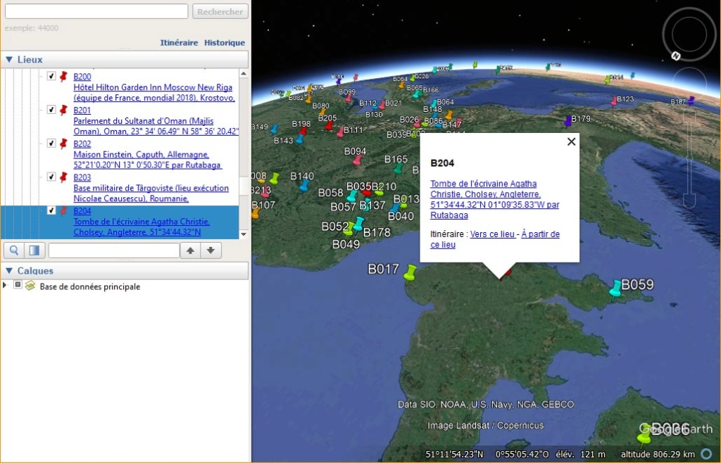 Un fichier Google Earth = tous les Défis ZOOM Monde ;) Kmldzm10