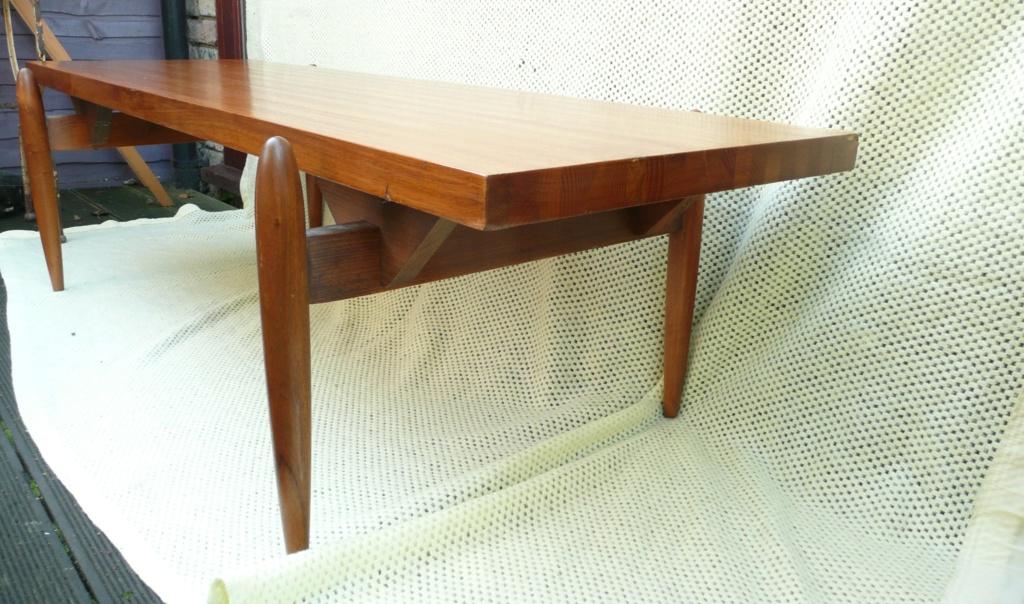 1950s Swedish/Scandanavian Oak & Teak Rectangular Coffee Table - space age  P1280613