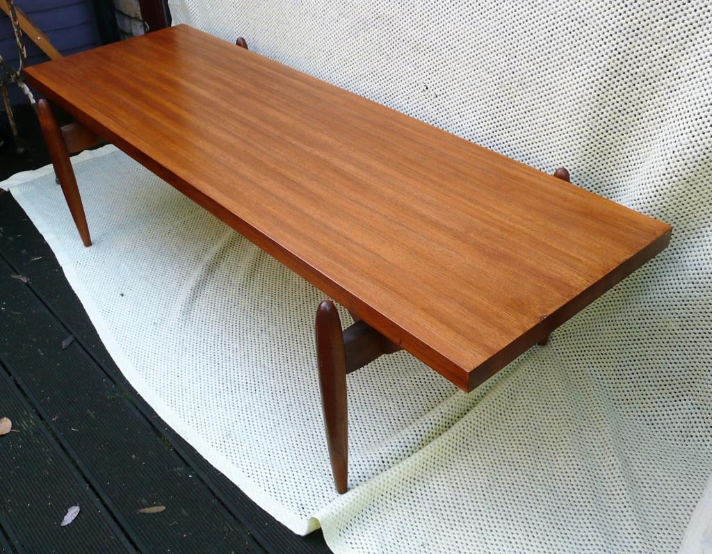 1950s Swedish/Scandanavian Oak & Teak Rectangular Coffee Table - space age  P1280614