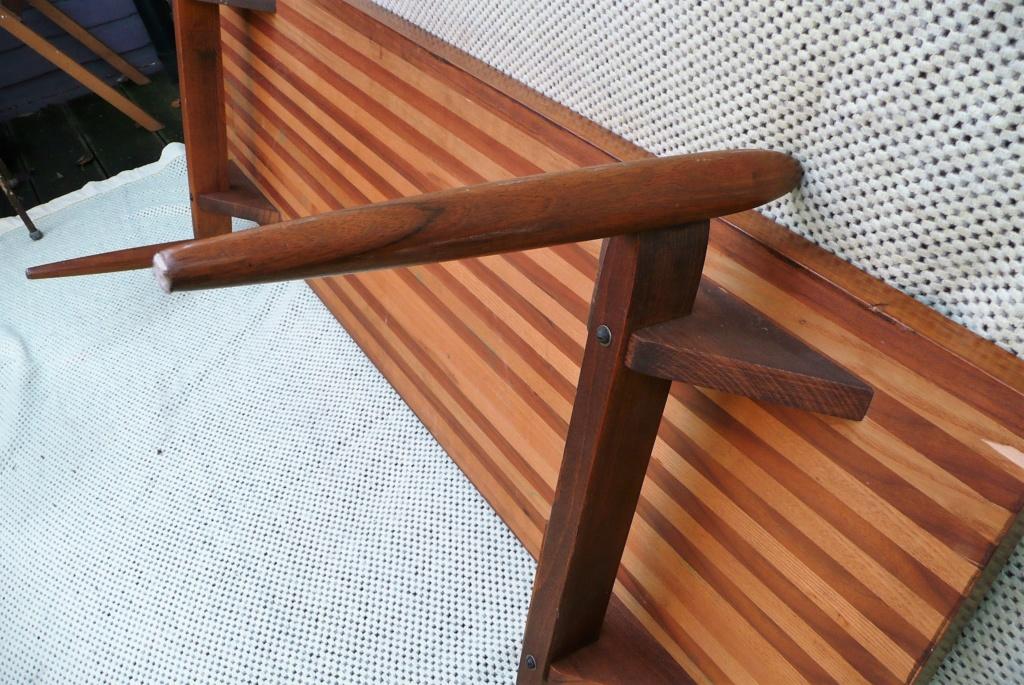 1950s Swedish/Scandanavian Oak & Teak Rectangular Coffee Table - space age  P1280615